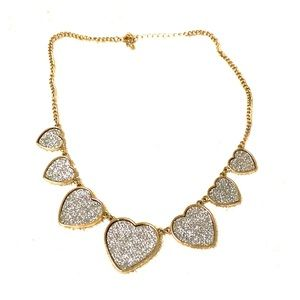 Heart necklace costume jewelry